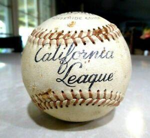 Vintage California League Wilson Horsehide Cover Baseball Minors