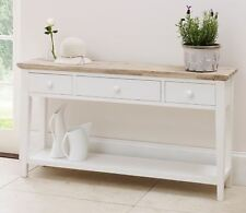 Florence White Console Table, Stunning kitchen console table, 3 drawers BARGAIN