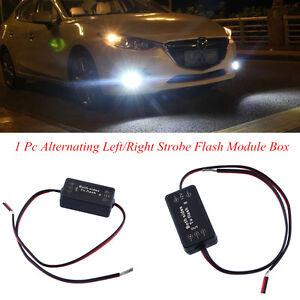Alternating Left/Right Strobe Flash Module Box For Auto SUV DRL Light Fog Light