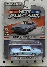 HOT PURSUIT MONTANA POLICE DODGE BOYS MOPAR 1977 ROYAL MONACO PATROL GREENLIGHT