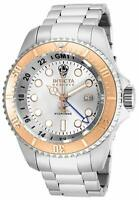 Invicta Men's 52mm Reserve Quartz 3 Hand Silver Dial Stainless Steel Watch 16964