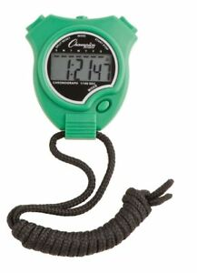 New Champion All Sports Walking Running Stopwatch Timer Daily Alarm, Green
