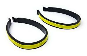 2 x Reflective Trouser Clips Safety Strips Cycling Hi-Viz Bike High Visibility