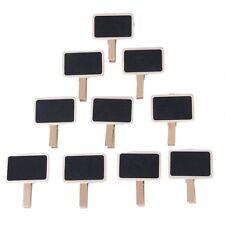 10 Stueck Mini Schwarz Tafel Wooden Hinweis Photo Clip GY