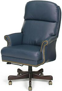 OFFICE CHAIR EXECUTIVE LEATHER NEW REMOVABLE LEG HAND-CRAFTED IN USA MK-1