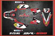 Suzuki DR650S DR 650 SUPERMOTO SEMI CUSTOM GRAPHICS KIT FREE CUSTOMIZATION DR1