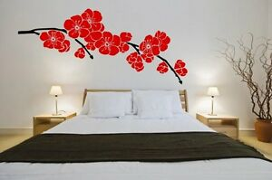 Japanese Cherry Wall Sticker Blossom Giant Floral Decal Decor Removable Art UK