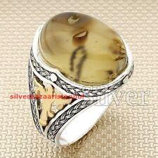 Yemeni Agate Aqeeq Stone Turkish 925 Sterling Silver Men Ring ALL SÄ°ZE US mod 10