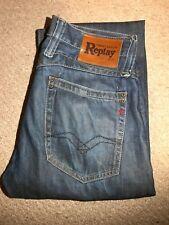 Mens Replay MV950A DOC Straight Blue Jeans W31 L34