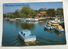 Norfolk Broads old postcard, Wroxham