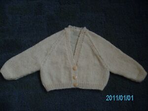 New Hand Knitted Babies Cashmere Cardigan 16 inch chest