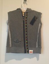 NEW Harajuku Mini For Target Toddler Boy Gray Zip Up Vest With Truck Detail, SZ4