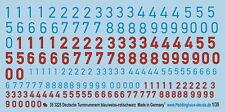 Peddinghaus 1/35 3225 Alemán Número de torre azul / Blanco Rojo/Negro