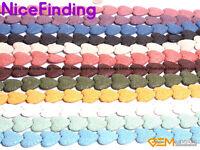 27mm Heart Sponge Lava Rock Beads For Jewelry Making Gemstone Strand 15''In Bulk