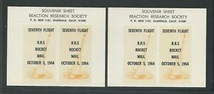 1964 US rocket mail RRS - 7th Flights souvenir sheets - EZ 60A1
