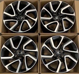 "Genuine Range Rover Sport 5085 21"" Diamond Cut Satin Black Alloy Wheels x4"