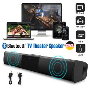 Bluetooth Soundbar Subwoofer TV Sound System Heimkino Lautsprecher mit FM Radio