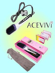 ACEVIVI Digital Anti Static Ceramic Hair Straightener Heating Detangling Hair