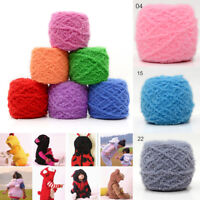 100g Soft Plush Fluffy Wool Yarn 3Ply Coral Cashmere Velvet DIY Knitting Sweater