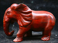 8.4'' Collect Chinese wood Hand-carved antique Rosewood Lucky Elephant sculpture
