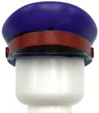 Lego New Dark Purple Minifigure Headgear Cap Captain with Black Visor Piece