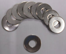 "Flat Washer 3/8 x 1"" OD Stainless Steel 18-8-SS 304 Pack of 10"