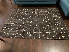 12 FLOR Hollin Hills Flint Black & White Carpet Tiles 5' x 7' Modular Rug  MCM