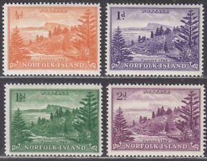 Norfolk Island 1956-57 KGVI Ball Bay White Paper Set to 2d Mint SG1a-4a cat £145