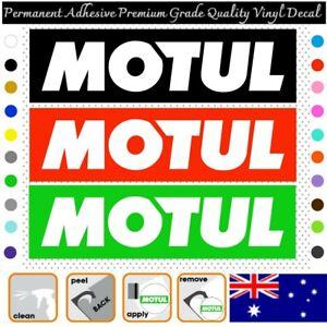 2x MOTUL 125mm width - Adhesive Vinyl Decal Sticker Window Car