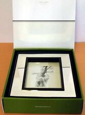"""Kate Spade Lenox Cabo Isabella Picture Frame 5X7"""" Silverplate & Black New"""
