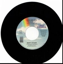 MARTY STUART LOVE AND LUCK/OH WHAT A SILENT NIGHT 45RPM VINYL