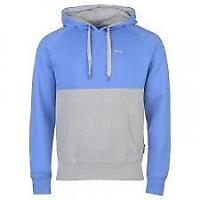 Lee Cooper Mens Cut & Sew Hoodie Hoody Blue Grey OTH Pullover UK size S *REF66