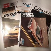 Vintage Dealership Brochure LOT Late 70s to Early 80s El Camino and More