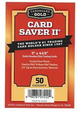 CARD SAVER 2 II  SEMI-RIGID CARD HOLDER- 50 CT LOT BRAND NEW BUY 3 GET 4TH FREE!