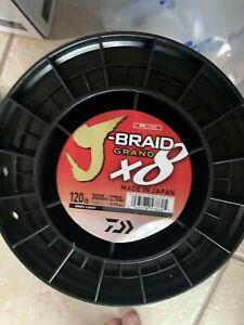 Daiwa J-Braid x8 Braided Line Light Grey 120lb, 3000yds. MRSP $350. BEST DEAL