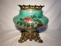 Antique Victorian Roses Gone With The Wind Oil Lamp parts