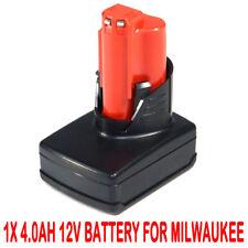 4.0AH 12V Li-ion Battery For MILWAUKEE M12 M12B2 M12B4 48-11-2440 48-11-2402