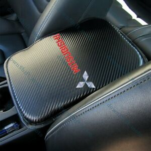 For MITSUBISHI Carbon Fiber Car Center Console Armrest Cushion Mat Pad Cover X1
