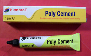 HUMBROL POLY CEMENT 12ml SOLVENT BASED CEMENT FOR PLASTIC MODEL KITS ONLY AE4021