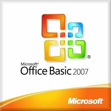 Microsoft Office Basic 2007 with MS Office Professional 2007 tr BRAND NEW SEALED