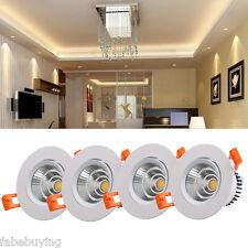 4x 3W Warm White LED COB Recessed Ceiling Spot Light Downlight Spotlight Lamp US