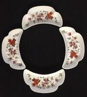 SAJI Fine China Japan Autumn Glory Crescent Salad or Bone Plates - Set of 4-2576
