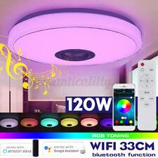 120 W bluetooth WIFI RGB LED Musik Deckenleuchte Deckenlampe Lautsprecher Dekor