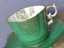 Antique Aynsley teacup English bone china Green tea cup and saucer