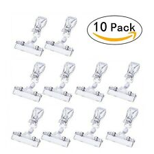 Plastic Merchandise Sign Clip Rotatable Pop Clip-on Holder Stand Price Displa.