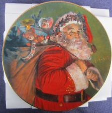 The Magic That Santa Brings 1987 Christmas Plate Avon Fine Collectables