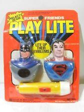 VINTAGE SUPER FRIENDS BATMAN & SUPERMAN PLAY LITE 1978 DC COMICS SEALED