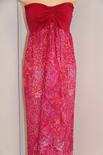 New Raviya Swimsuit Cover Up Maxi Dress Size L Pink Strapless