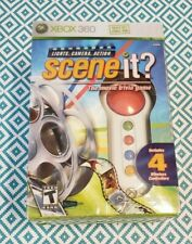 SCENE IT LIGHTS CAMERA ACTION - XBOX 360 - GAME + 4 BUZZERS Sealed