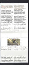 1995 Canada Wildlife Conservation stamp - CN11 - artist autograph on stamp